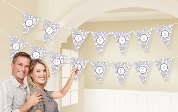 Silver Personalised Pennant Bunting